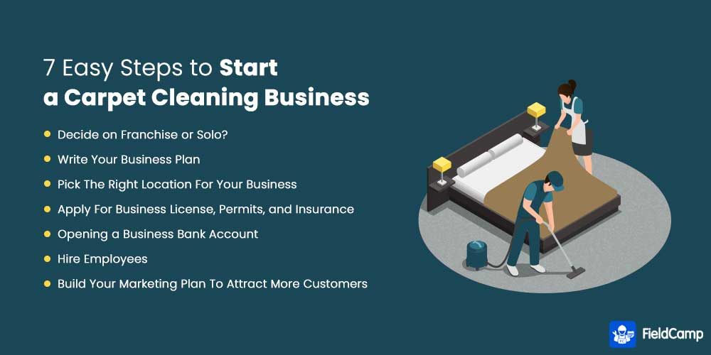 7 Easy Steps to Start a Carpet Cleaning Business