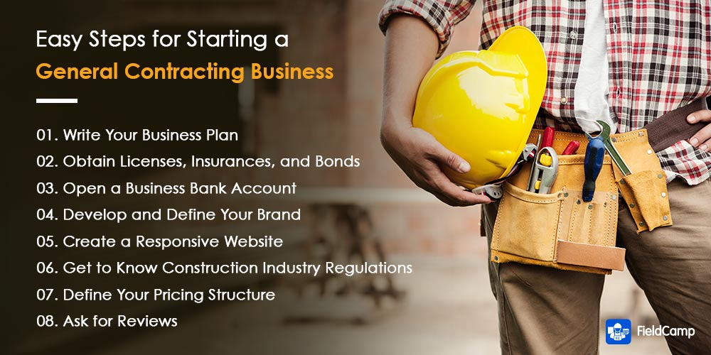 Simple steps guide to start a general contractor business