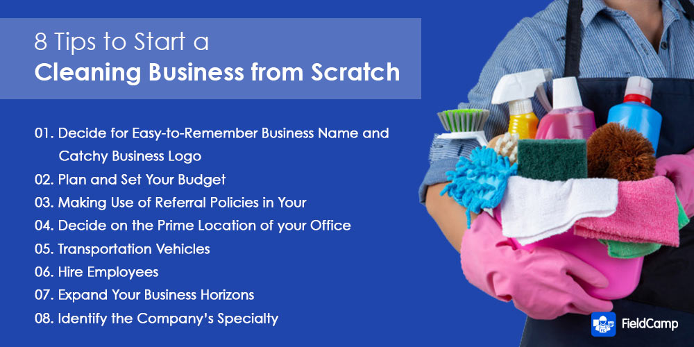 Tips for starting a cleaning business from scratch