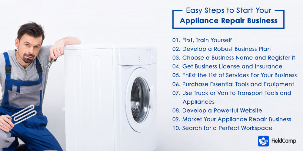 Easy steps to start an appliance repair business