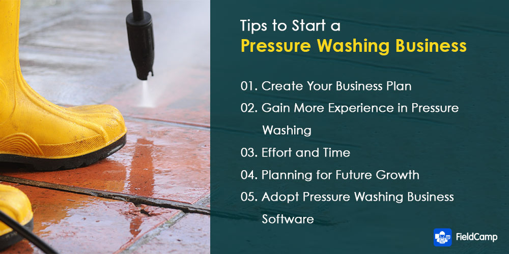 Tips for how to start a pressure washing business