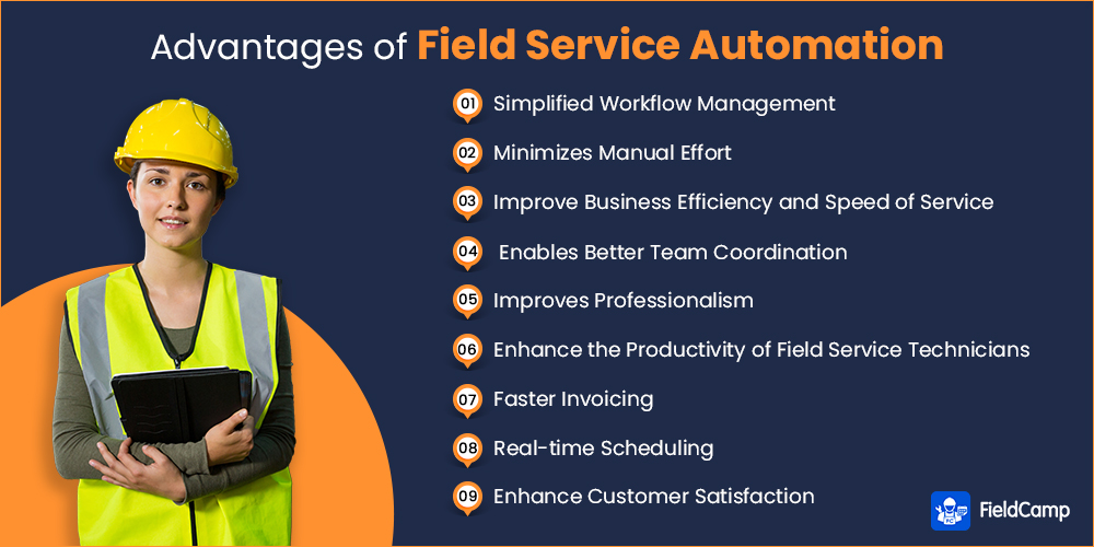 Advantages of field service automation