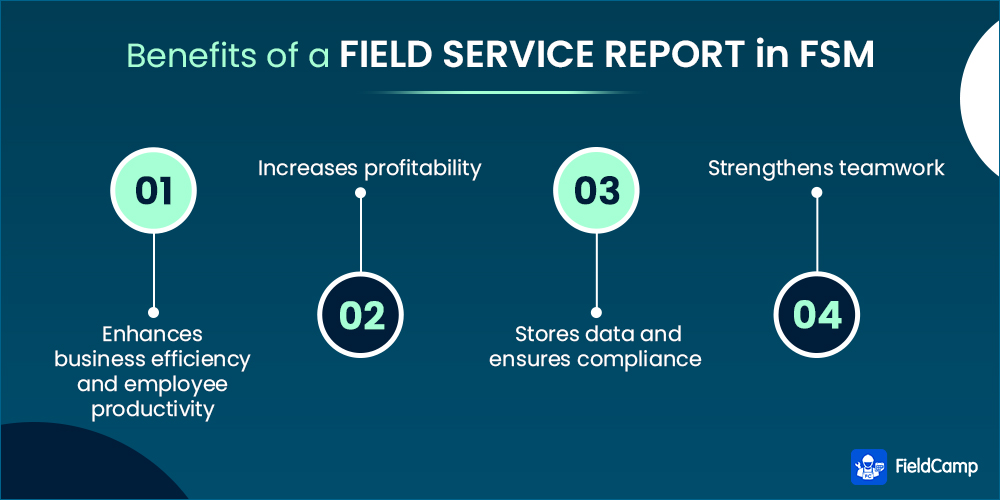 Benefits of a field service report in FSM