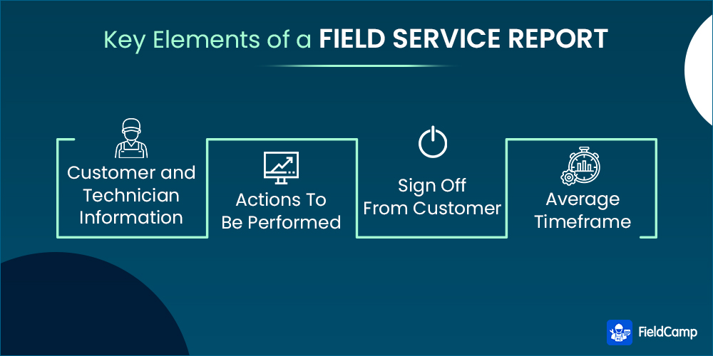 Key elements of a field service report