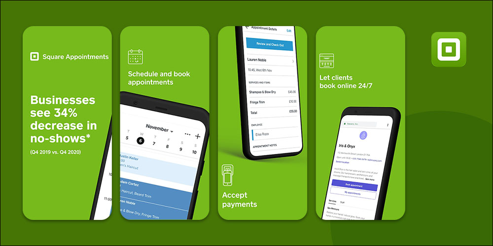 Square Up - Scheduling App for Small Business
