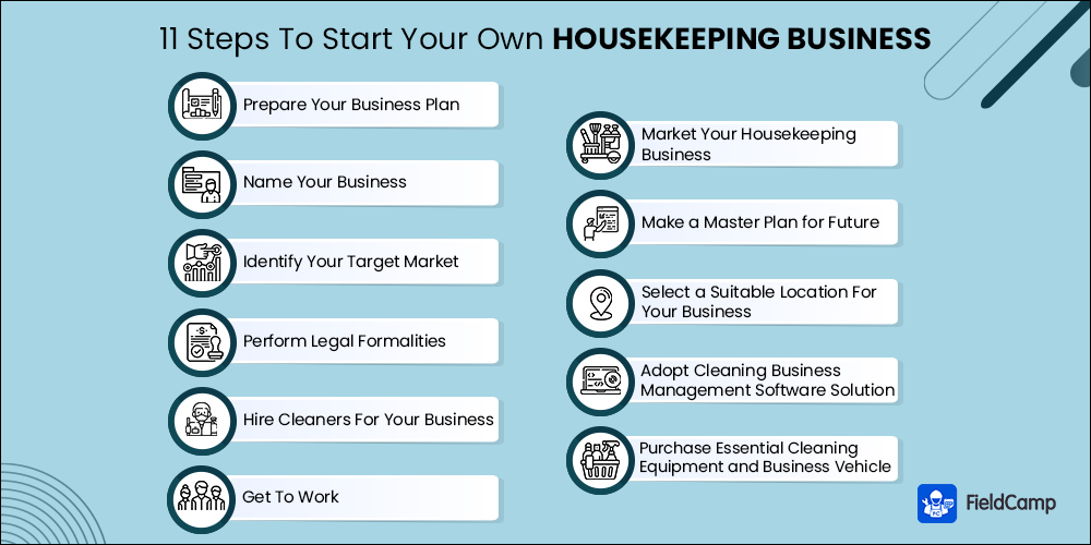 11 steps to start your own housekeeping business