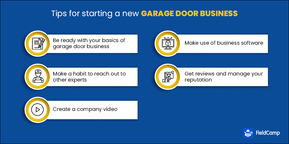 Tips for starting a new garage door business