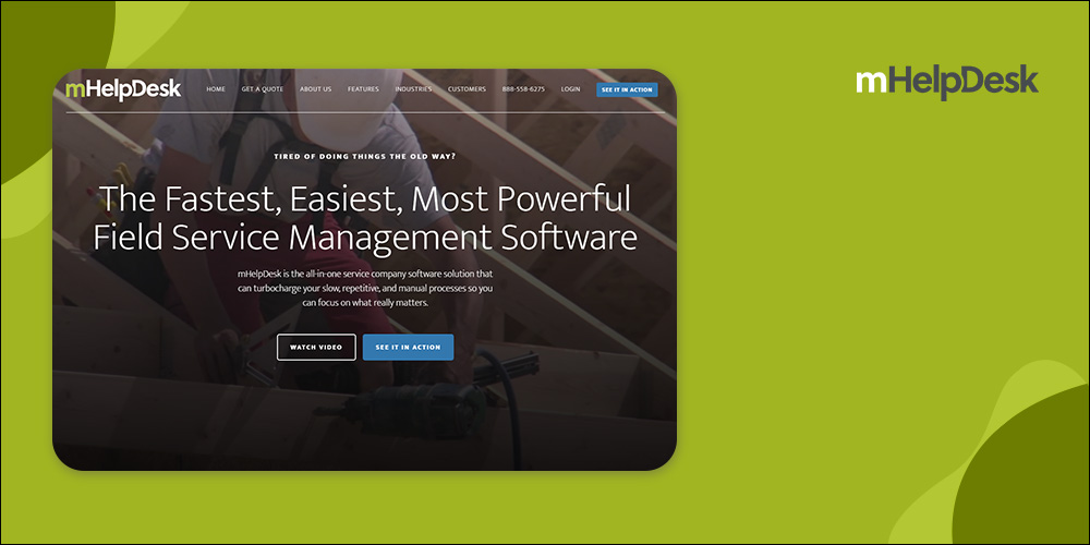 mHelpDesk - Field Service Dispatch Software